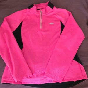 Avia 3/4 zip long sleeve shirt hot pink Like new